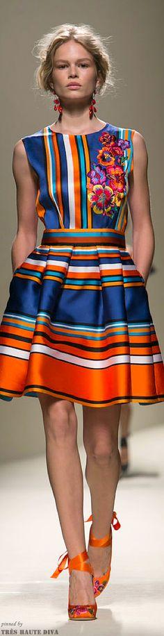 ferretti springsumm, summer fashions, cloth, alberta ferretti, fans, colors, dresses, appliques, ferretti ᘡղbᘠ