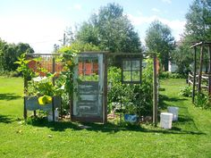 "Keep the critters out, plus get creative with a fenced ""garden house"".    The Dilletante Proprietor: Veggie Garden"