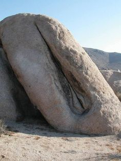 "Gaia - Mother Earths sacred yoni stone.    themagicfarawayttree:    ""Queen of the Desert"" Joshua Tree National Park ~ at the side of the road out past Belle Campground."