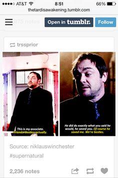 Besties - Dean and Crowley. lol