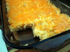 Hashbrown Casserole - Copy cat recipe from Cracker Barrel.