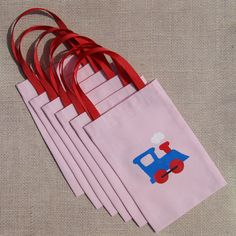 Pink Train Favor Bags