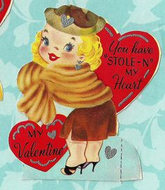 valentin card, greet card, vintag card, greeting cards