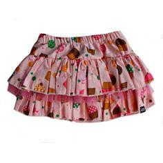 Falda de volantes con tul para niñas