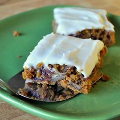 Cranberry Swirl Pumpkin Bars with Cream Cheese Frosting