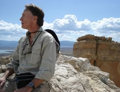 On the summit of Chimney Rock at Ghost Ranch in New Mexico, Rob Wilder wears his Sinn 856 GMT.