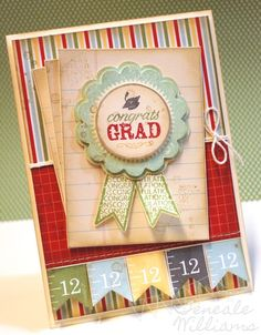 Blue Ribbon graduate card from i STAMP by Nancy Riley
