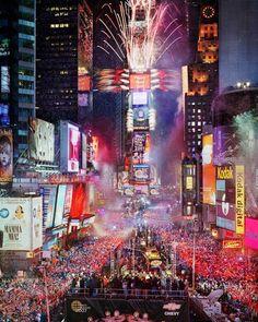 Times Square NYC, New Year's celebration. Mmmmmmm...one day, maybe?