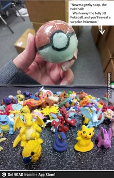 Wash your body and catch Pokemons at the same time