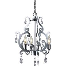 Another chandelier option for big girl room - less colourful - from Home Depot