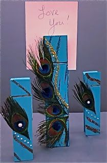 Peacock Feather Jumbo Clothespins from Ben Franklin Crafts Hawaii