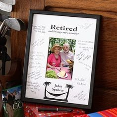 Gift Idea: Personalized Retirement Signature Mat Frame