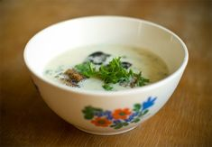 Garlic soup, recipe in Finnish