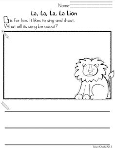 Smart Kids: L page FREEBIE lion, smart kids