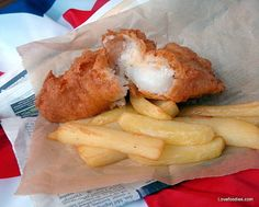 British Beer Battered Fish & Chips - Lovefoodies