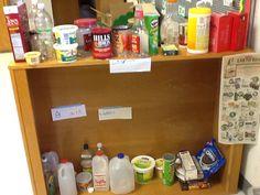 labled shelves-Elaine Bullard