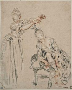 drawing by Jean-Antoine Watteau