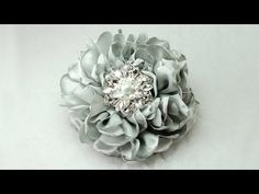 ▶ Gorgeous Fabric Flower, Tutorial, DIY, How to do - YouTube