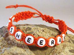 ED SHEERAN Girls Orange Hemp Bracelet Handmade Friendship Surfer Casual on Etsy, $8.08