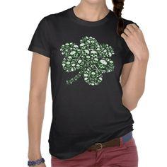 Skulls Shamrock Cool Irish Shirts #stpatricksday #stpattys #stpattysday #irish #green #shamrock #zazzle #skulls #sweepstakes
