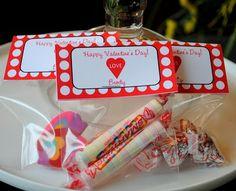 Valentine's Day Mini Treat Bag Labels