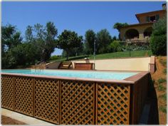 Above Ground Pools Landscaping pool idea, pool landscaping, pool surround, ground pool