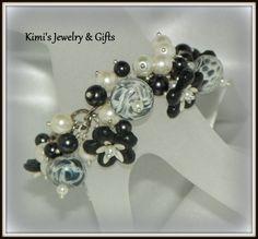 Bracelet  Black Cha Cha Bracelet by kidalski on Etsy, $70.11 #sylink