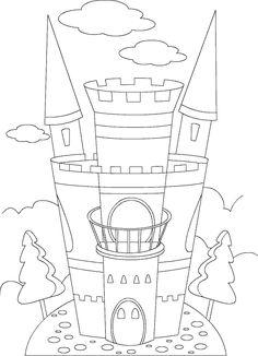 castle picture to color