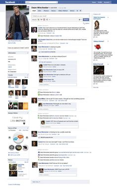 Dean's Facebook Page by *kiles85