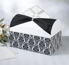 Damask Wedding Card Box