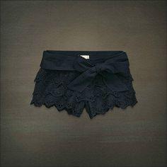 Hollister Eyelet Lace Shorts