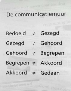 De communicatiemuur: