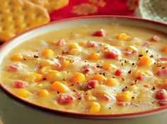 Crockin' Girls Corn Chowder- Perfect for a relaxed lunch! #crockingirls