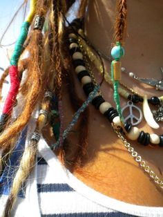 Wrapped and beaded dreadlocks. #dreadstop