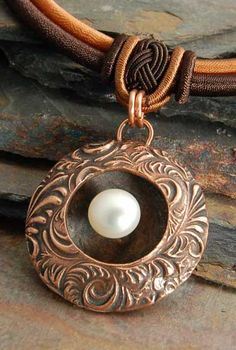 Beautiful piece by Pam East, copper clay