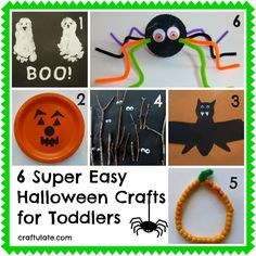 6 Super Easy Halloween Crafts for Toddlers - Craftulate