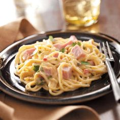 What to do with the leftover ham. Baked Ham Tetrazzini!