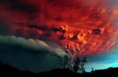 Popocatepetl Vulcano, Mexico. 18-04-2012 clouds, chile, red, sky, volcano, nature, color, sunset, smoke