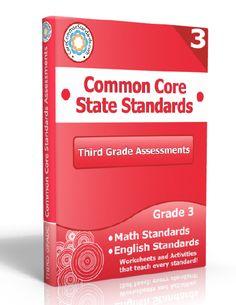 Description: Third Grade Assessment Workbook, 3rd Grade Assessment Workbook, Third Grade Common Core Assessment Workbook, 3rd Grade Common C...