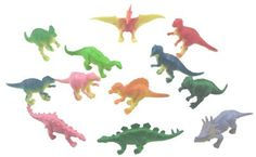 These 2 inch dinosaurs make great table confetti, cupcake Toppers, or party favors!