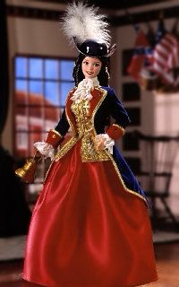 1996 Patriot Barbie helps support our founding fathers by hosting the Liberty Bell in the city of Philadelphia.