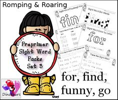 Romping & Roaring Preprimer Sight Words: find, for, funny, go