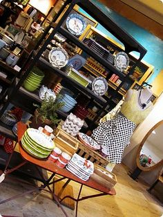 happy Anthropologie kitchen (love that table)