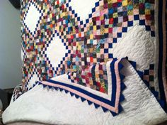 13 row Irish chain quilt.