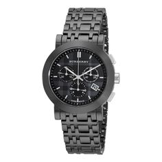 Burberry Ceramic Black Chronograph Dial Watch