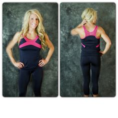 Get Free Tank only $17.50 Colors come in pink/gray, turquoise/black, and purple/white.   Get them here: Get them here: www.getfitwear.com