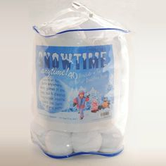 Indoor Snowball Fight SNOWTIME ANYTIME 40 pk:Amazon:Toys & Games