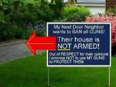 Don't ban our guns.