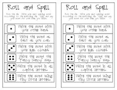 Word Work = Roll and Spell Cards  Oh My Little Classity Class: [Roll and Spell] the Rainbow Edition