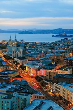 Dusk, San Francisco, California